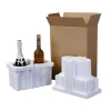 2-PK Wine Bottle Shipper with Space for Cold Pack, 740T Foam ONLY - - alt view 1