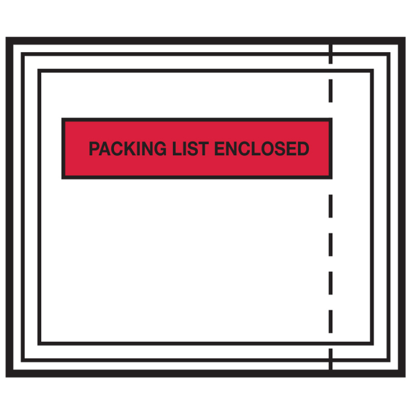Panel Face Packing List Envelope