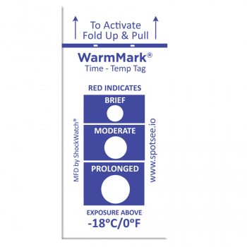 -18°C/0°F Temperature Tags, 501 WarmMark®