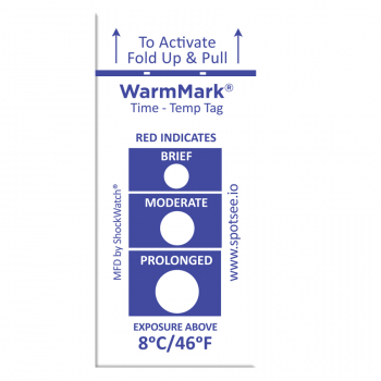 8°C/46°F Temperature Tags, 505 WarmMark®