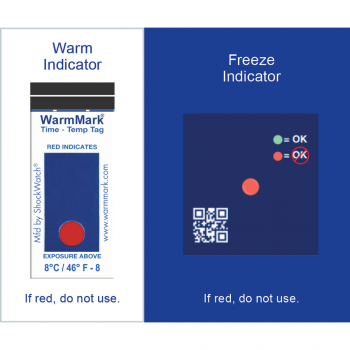 2°-8°C/36°-46°F Temperature Tags, 528/CCC Cold Chain Complete