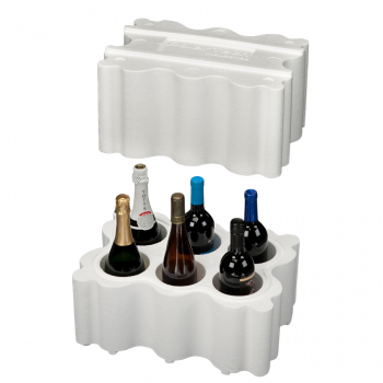 6 Bottle, Wine and Champagne Shipper 746T, Foam Only