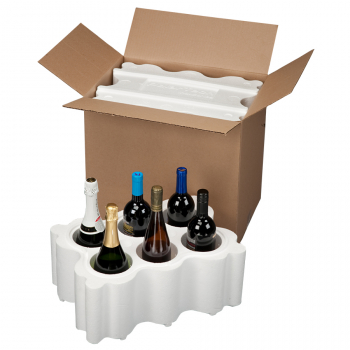 6 Bottle, 746TKD Top Load Wine and Champagne Shipper, KD BOX ONLY