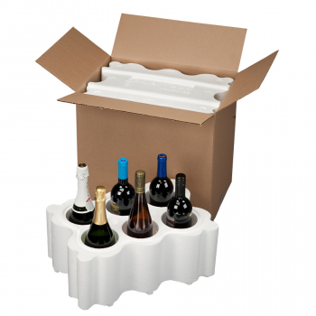 6 Bottle, 747TKD Top Load Wine and Champagne Shipper KD BOX ONLY