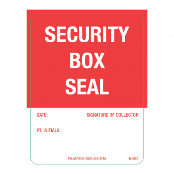 Security Box Seal 1.875 x 2.5