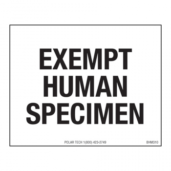 Biohazardous Labels EXEMPT HUMAN SPECIMEN 2.5 x 2