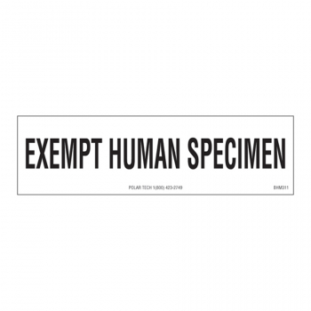 Biohazardous Labels EXEMPT HUMAN SPECIMEN 3.5 x 1