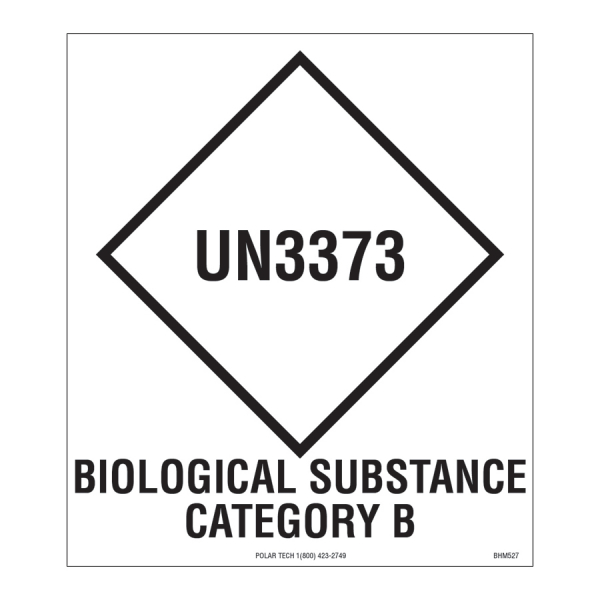 Biohazardous and Substance Category B 3.5 x 4
