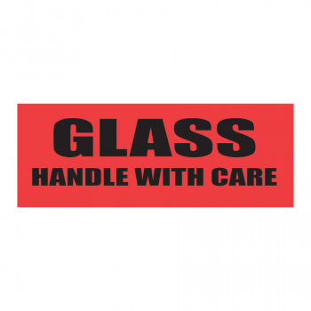 SCL 204 4 x 1.5 GLASS HANDLE WITH CARE