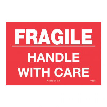 SCL 210 3 x 2 FRAGILE HANDLE WITH CARE