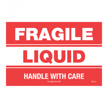 SCL 211 3 x 2 FRAGILE LIQUID HANDLE WITH CARE