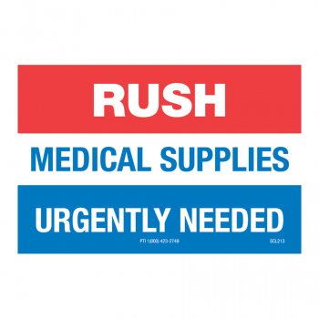 SCL 213 3 x 2 RUSH MEDICAL SUPPLIES URGENTLY NEEDED