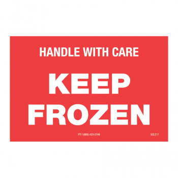 SCL 217 3 x 2 KEEP FROZEN HANDLE WITH CARE