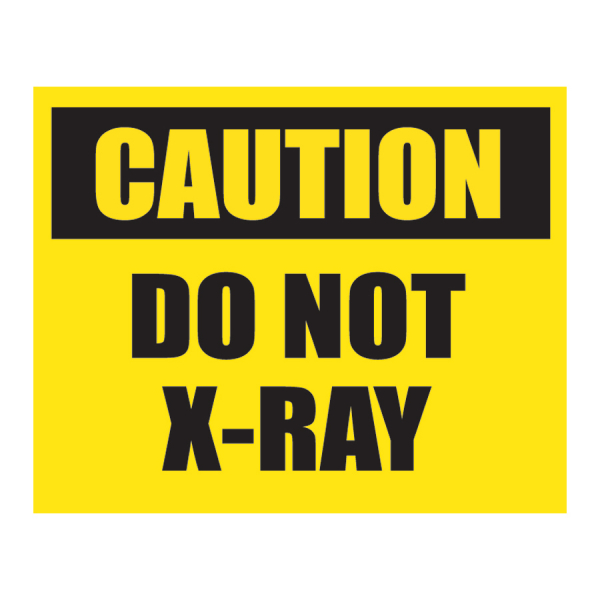 SCL 219 2.5 x 2 CAUTION DO NOT XRAY