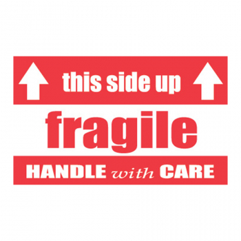 SCL 521 5 x 3 Fragile this side up HANDLE with CARE