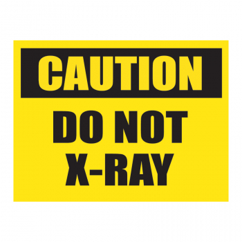SCL 523 4 x 3 CAUTION DO NOT XRAY