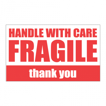SCL 533 5 x 3 HANDLE WITH CARE FRAGILE thank you