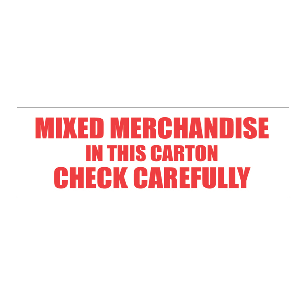 SCL 544 6 x 2 MIXED MERCHANDISE IN THIS CARTON CHECK CAREFULLYONE® COMPLETE UNIT