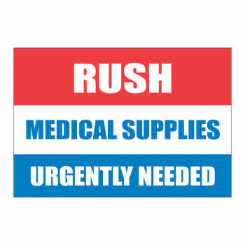SCL 548 4 x 2.75 RUSH MEDICAL SUPPLIES URGENTLY NEEDED