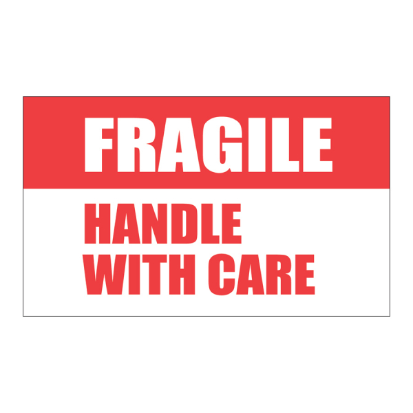 SCL 557 5 x 3FRAGILE HANDLE WITH CARE