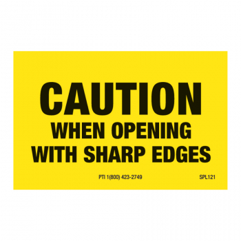 SPL 121 2 x 1.25 CAUTION WHEN OPENING WITH SHARP EDGES
