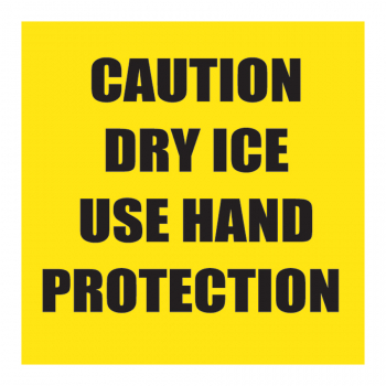 TAL 204 2 x 2 CAUTION DRY ICE USE HAND PROTECTION